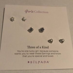Silpada Three of a Kind Silver Earrings New